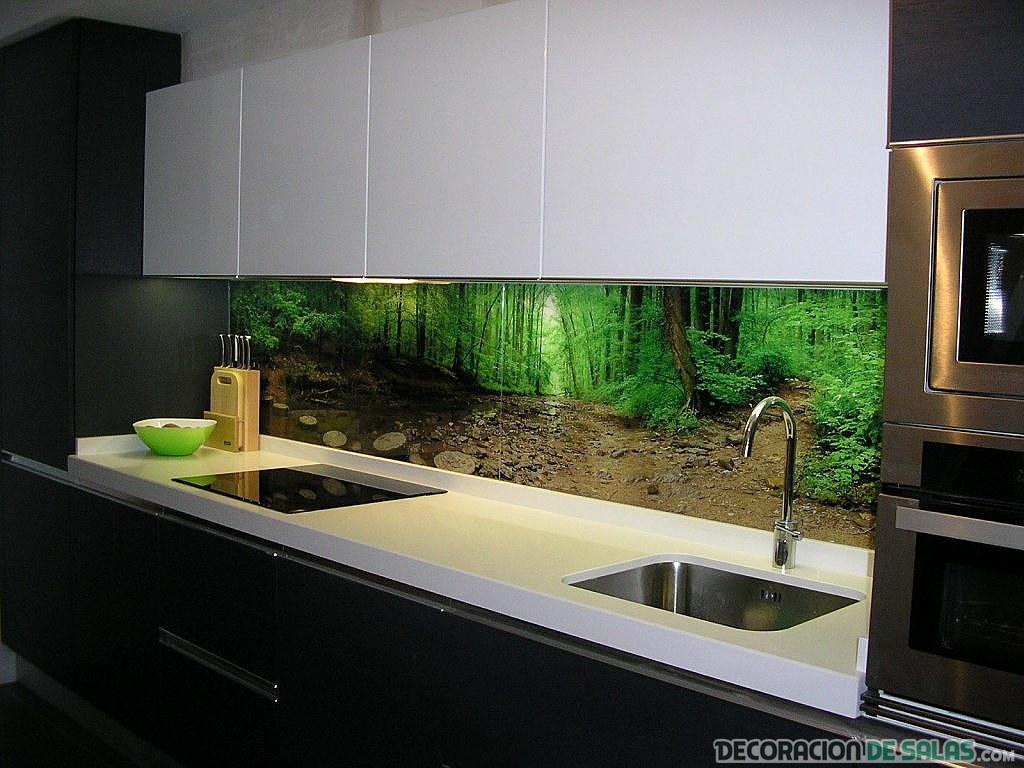 Azulejos decorativos para la cocina - Paredes de cocina sin azulejos ...