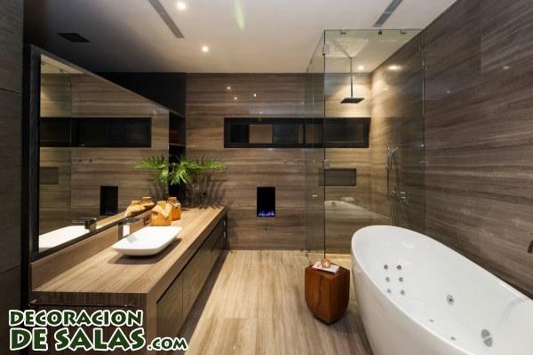 Decoracion De Baños Luz En Casa:Paredes de madera para baños modernos