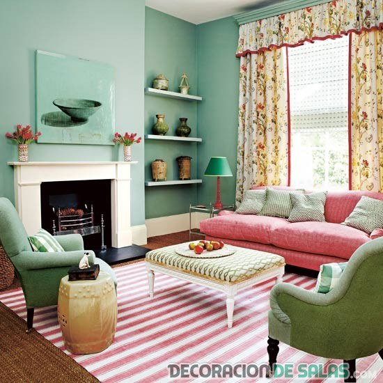 Interiores decorados en verde menta - Pretty green rooms ...