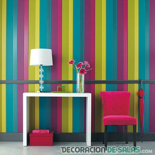 paredes en color con rayas