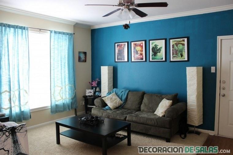 paredes pintadas en el salón