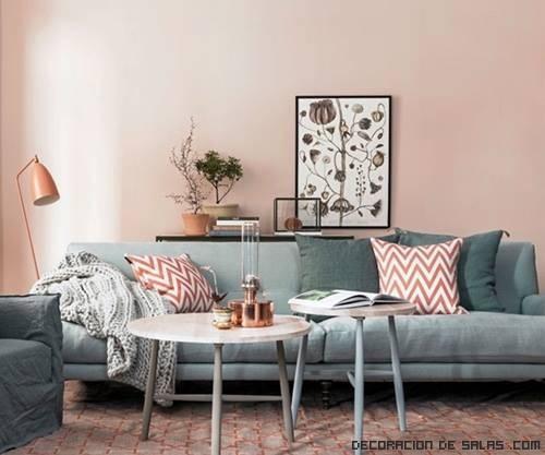 La decoraci n en rosa palo est de tendencia - Habitacion rosa palo ...