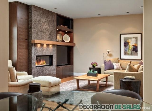 paredes salón de madera