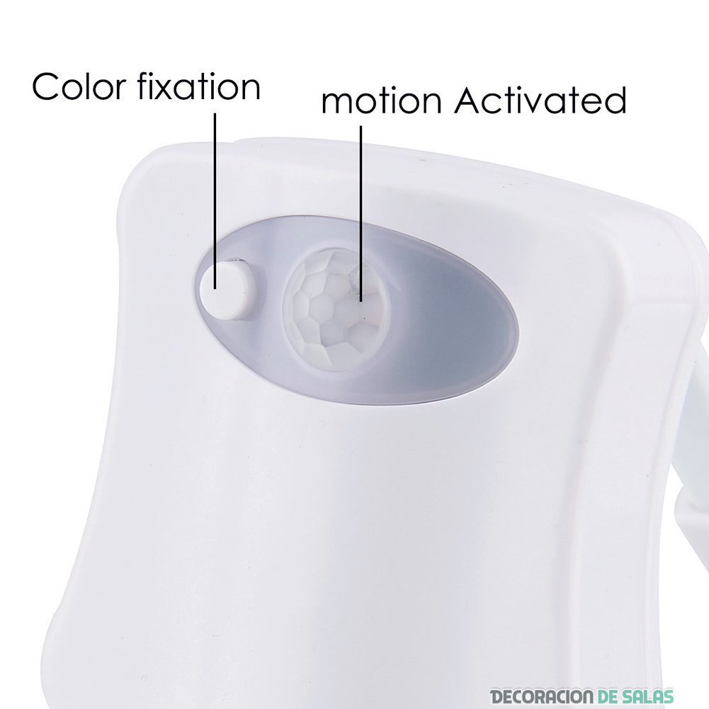 partes sensor luz LED para baños
