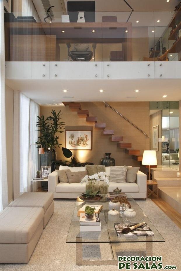 Escaleras interiores elegantes y sofisticadas for Escaleras en salas