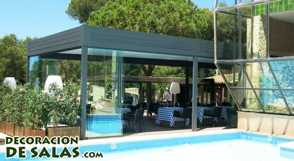 Pergolas terrazas peque as innovation - Smeedijzeren pergolas voor terras ...