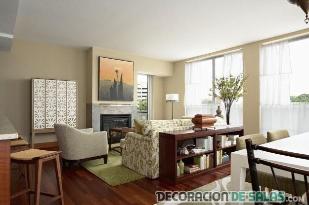 piso soltera marrón elegante