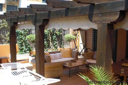 Ideas para el porche for Porche jardin madera