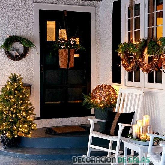 Puertas de casa decoradas para navidad - Casas decoradas en navidad ...