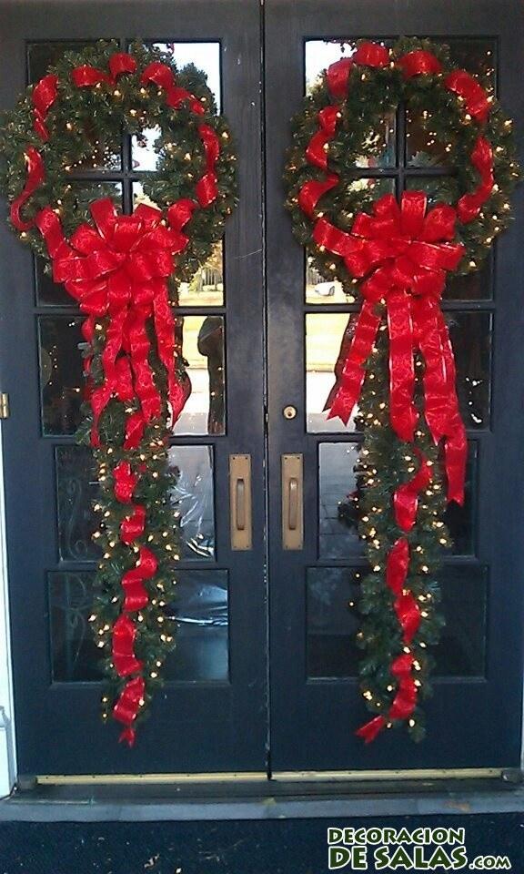 Puertas Dobles Decoradas Navidad