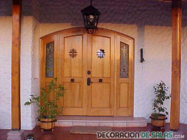 Puertas de madera para entrada principal cool affordable for Puertas entrada madera maciza precios