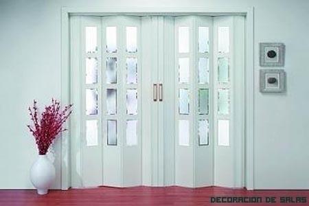 Decoracion de salas habitaciones salones ba os - Puertas plegables aluminio ...