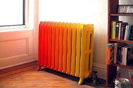 Pinta los radiadores