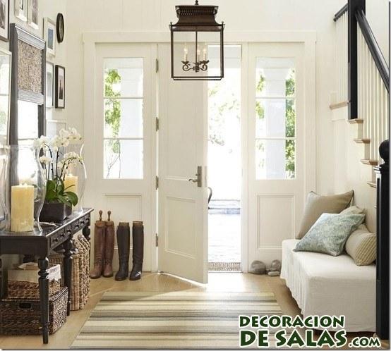 3 ideas para decorar un recibidor amplio - Sillas para recibidor ...