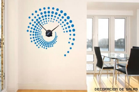 Relojes de pared para decorar - Reloj pegado pared ...