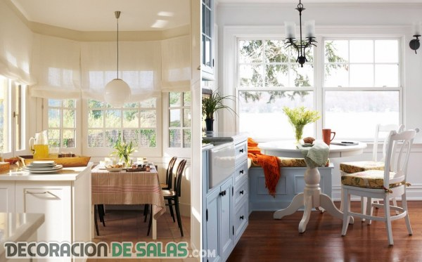 Ideas de mesas para comer en la cocina for Mesa con bancos de madera para cocina