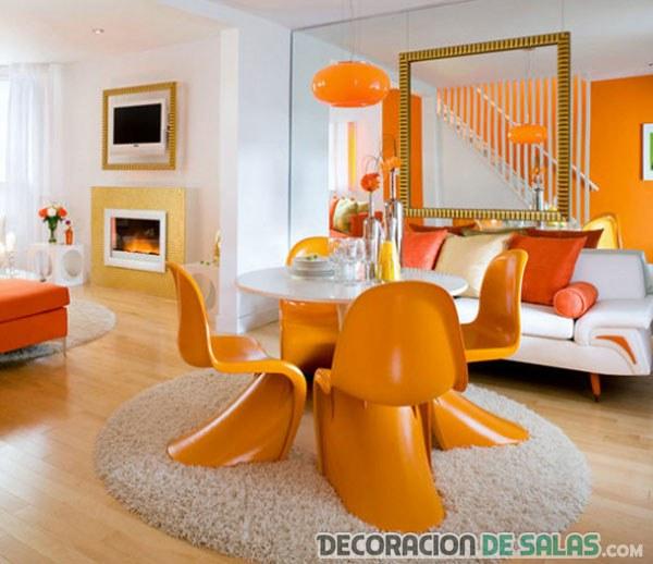 Decoracion Sala Comedor Color Naranja ~ sala comedor en color naranja