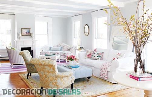 Distintos estilos de decoración en salas