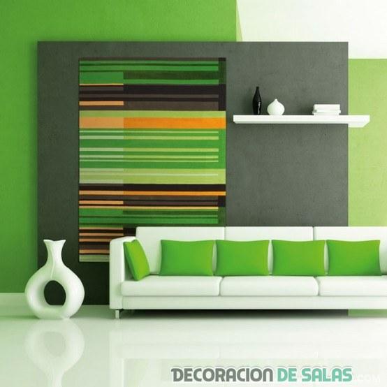 Sala De Estar Verde ~ sala de estar verde con pared original