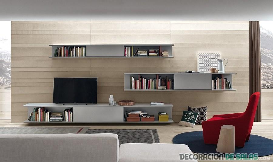 sala elegante y moderna de corte minimalista
