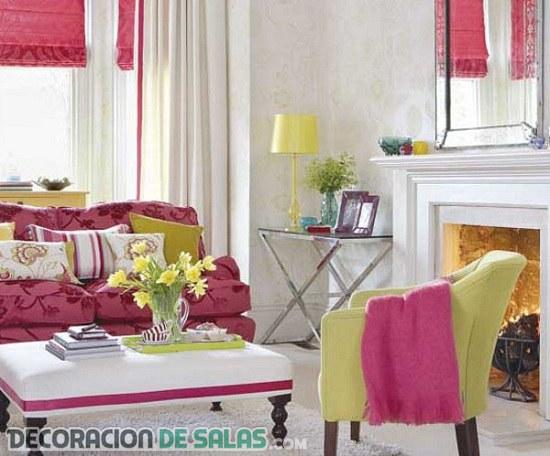 Dos colores muy alegres para tus salas y salones