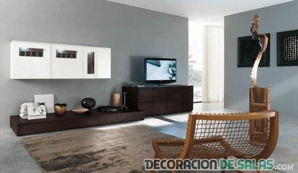 sala grande con estilo contemporáneo en tonos neutros