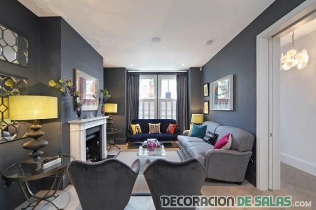 sala gris con estilo contemporáneo