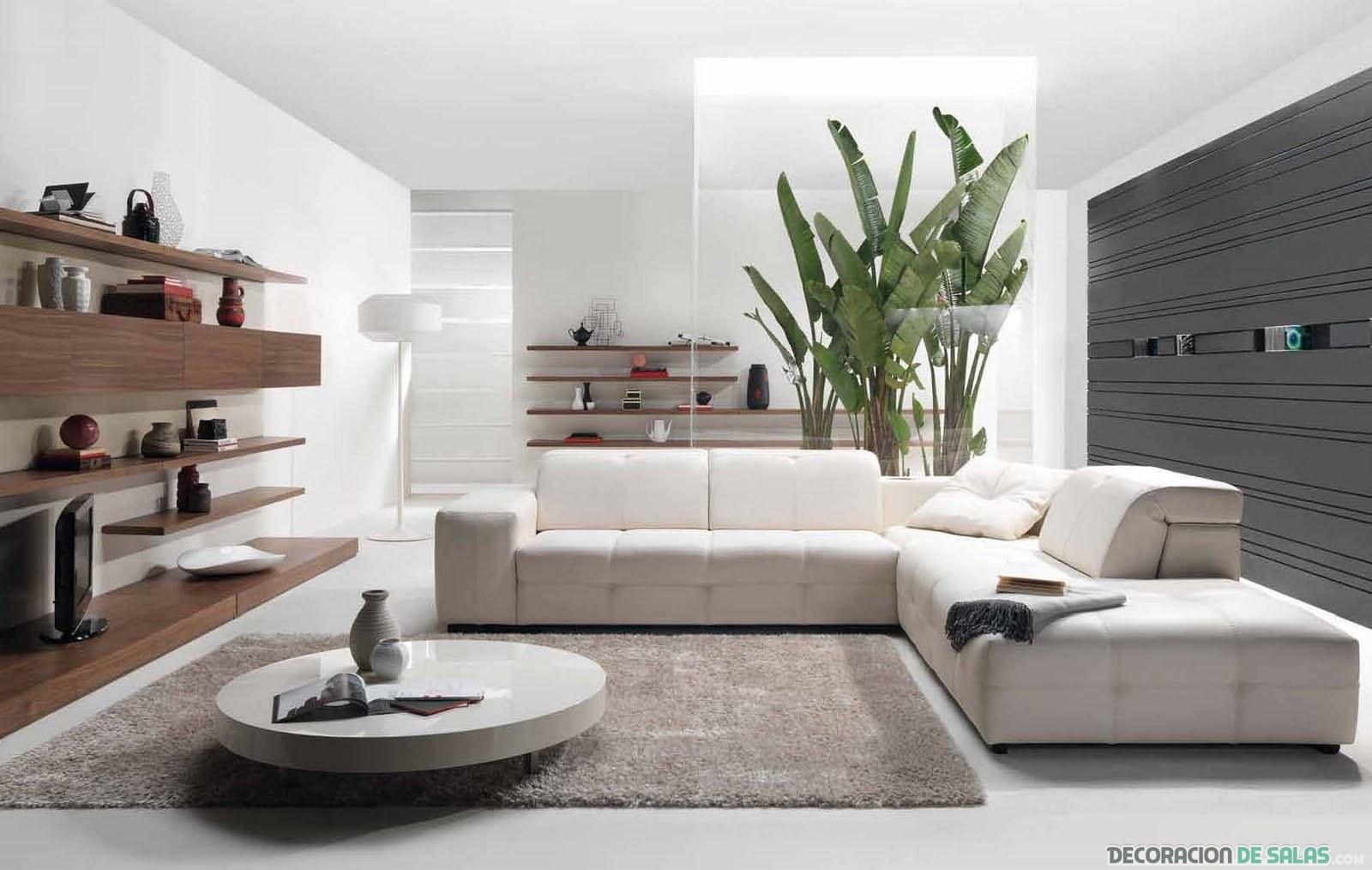 sala minimalista en beige
