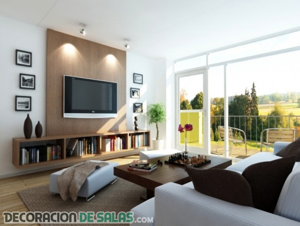 Salas modernas con una decoraci n sencilla for Sala moderna 2018