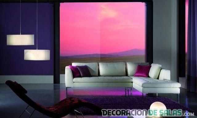 sala moderna con vistas