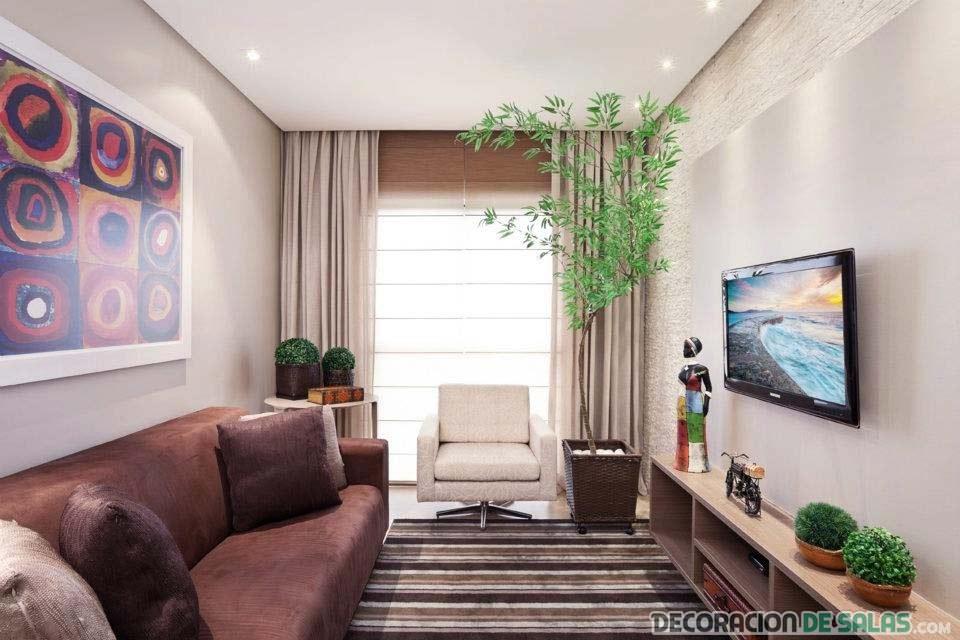 sala moderna de apartamento