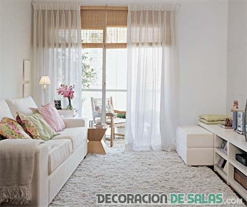 Salas peque as con una combinaci n llena de estilo for Alfombras para sala pequena