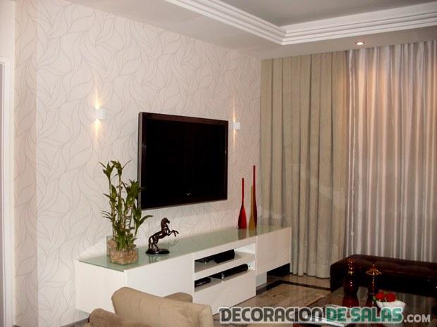 sala pequeña con cortinas