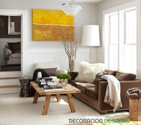 sala pequeña moderna colores básicos