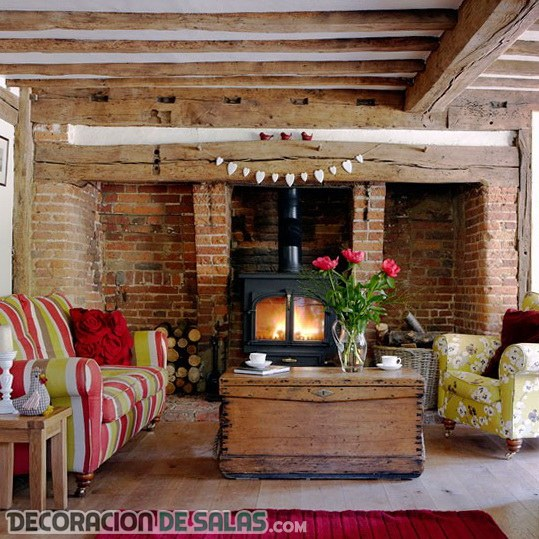 Salas rústicas con todo lujo de detalles