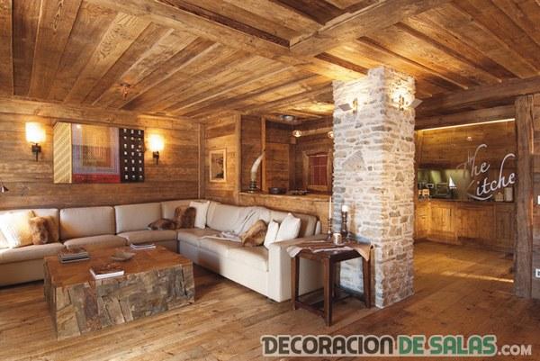 salas y salones con estilo rústico y sus ventajas