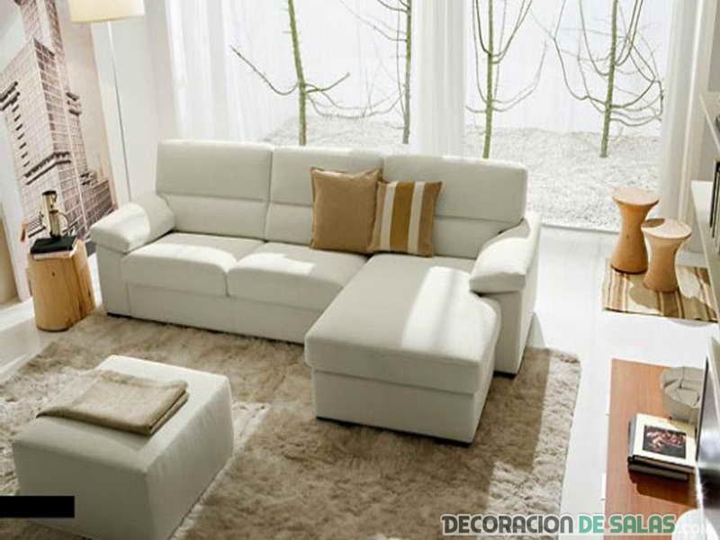 La belleza de los salones con sof s blancos - Salones con sofa negro ...
