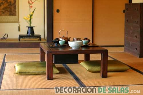 salón asiático sencillo