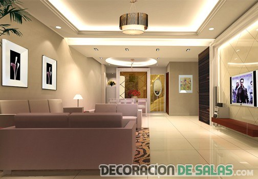 Luces led en tus salones - Iluminacion para salon ...