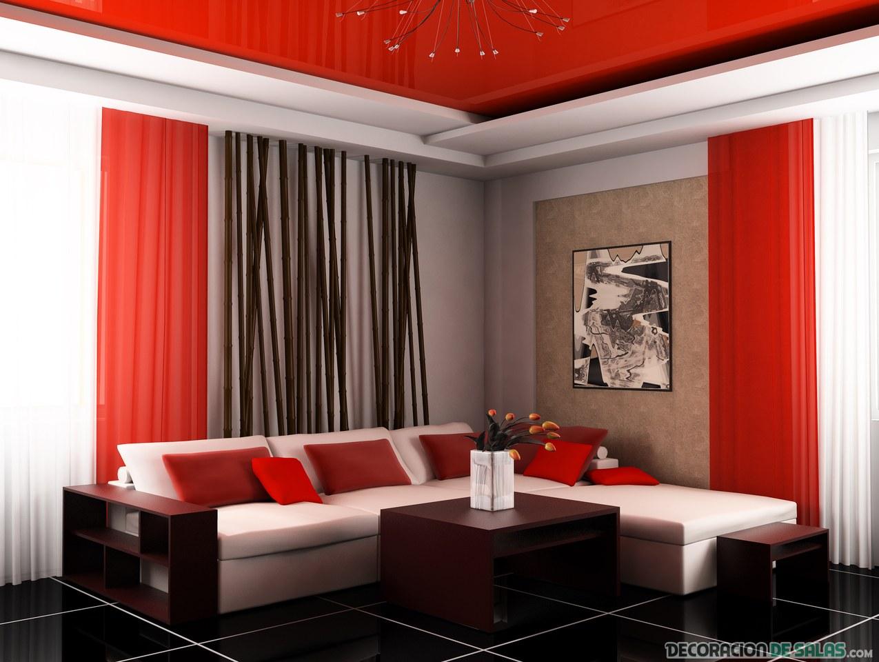 C mo decorar una sala acogedora - Combinar colores paredes simulador ...