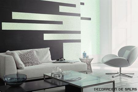 Reglas b sicas de decoraci n - Salon en blanco y negro ...