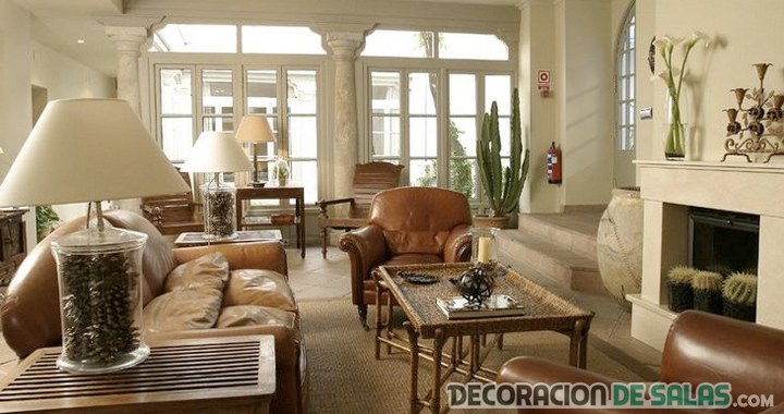 Salones y comedores de estilo colonial - Salon colonial design ...