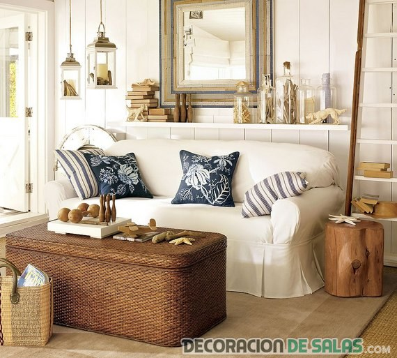 salón color marrón decoración playera