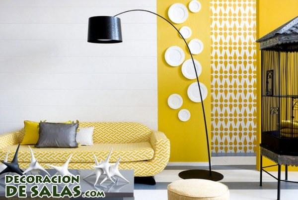Decoraci n en color mostaza for Decoracion de salas en gris y amarillo