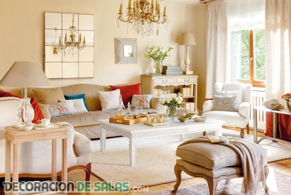 Salones luminosos en color beige - Decoracion salones colores ...