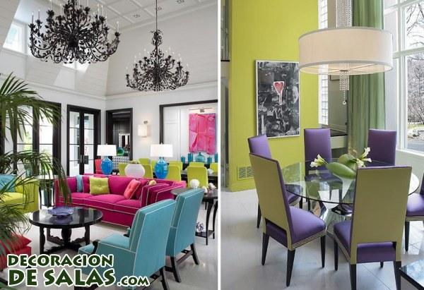 Salones y comedores con tonos cidos - Salones comedores decoracion ...