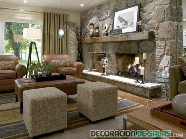 Ideas de salones con chimenea