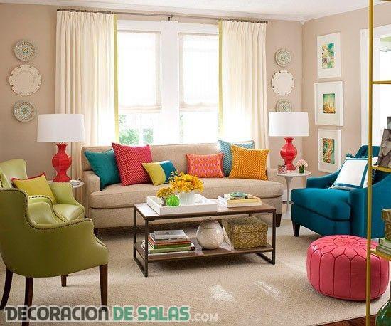 Combina colores en tu salón