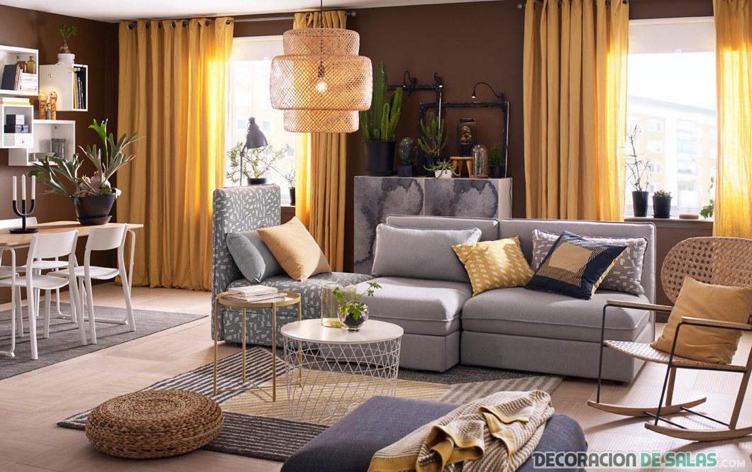 Salones modernos en color de ikea