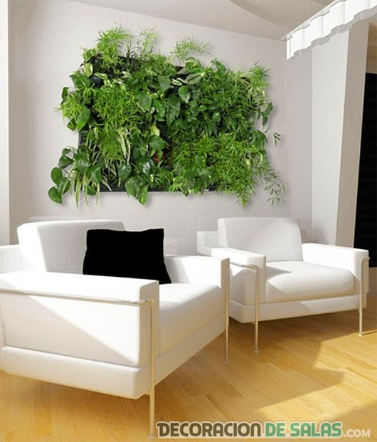 salón con cuadro de plantas